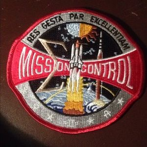 Vintage Mission control patch